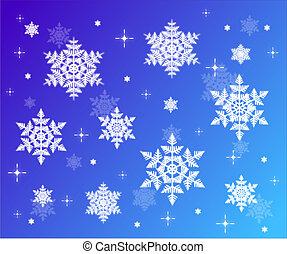 Winter background - Blue winter background