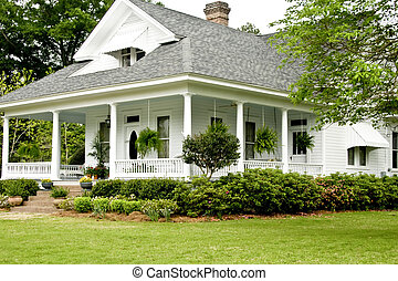 Historic Home - Historic White home with wrap around porch