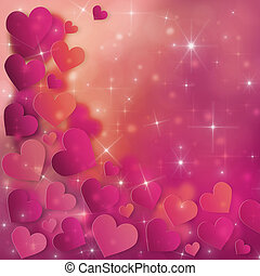 Valentines Day Card - Valentine`s Day Card with red and pink...