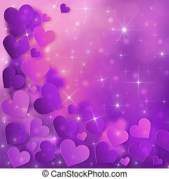 Valentines Day Card - Valentine`s Day Card with purple...
