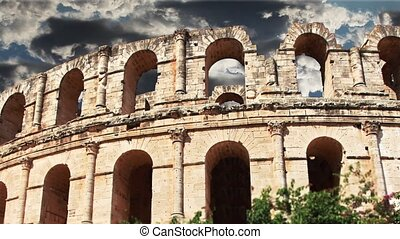 Colosseum - the ruins of an ancient Colosseum