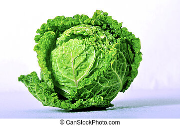 Kale - Cabbage on a white background