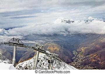 ski lift in Sochi Krasnaya Polyana