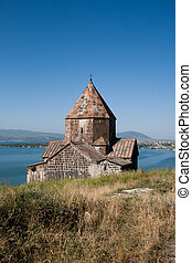 Medieval church on Sevan lake, Armenia - The monastery...