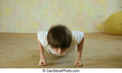 Child Doing Push-Ups