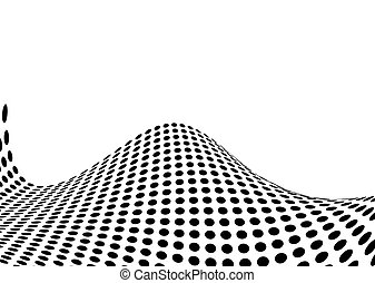 halftone swell - Illustrated ocean swell made out of...