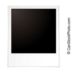 plain polaroid - Illustration of a plain polaroid with room...