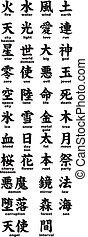 Kanji with translation - Handwritten vectorized Kanji...