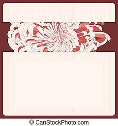 Vector greeting card. - Vector illustration for greeting...