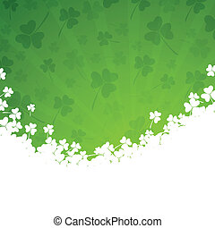 Vector St Patricks Day Background - Vector Illustration of a...