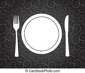Dinner symbol over vintage background vector illustration