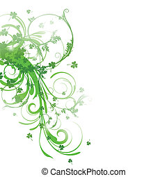 Vector St. Patricks Day Background - Vector Illustration of...