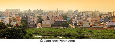 Hyderabad India - Panoramic view of apartment homes in...