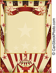 Fantastic circus - A new background vintage, textured on...
