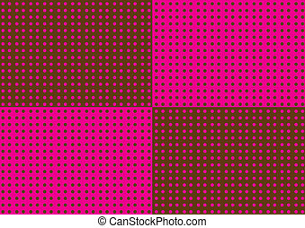 Brown and Pink Dots