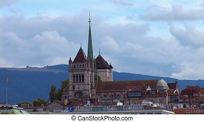 Geneva: The St. Pierre Cathedral - Geneva: views of the Mont...