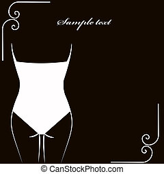 lingerie card. vector illustration