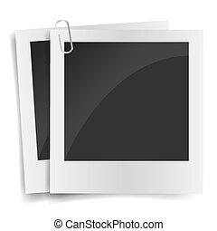 Isolated Photo Frames on White Background