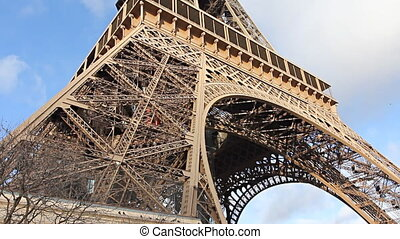 Eiffel Tower from below.