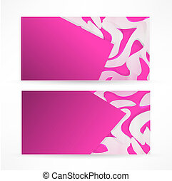 abstract colorful wave business card set design