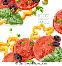 Background from organic food - Background from organic...