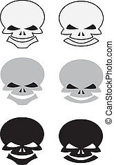 set of skulls for tattoo