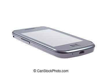 Touch screen mobile phone on isolated