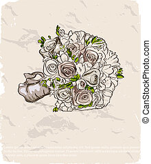 Wedding bouquet. Hand drawn illustration