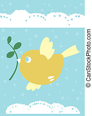 little bird is symbol of spring, life and love - Created in...