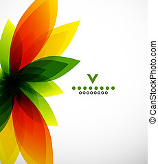 Colorful abstract flower design template. Vector background
