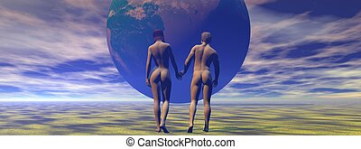 adam and eve and apple