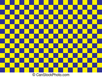 Blue and Yellow Squares