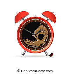 clock and coffee vector illustration part two