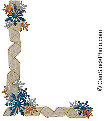Christmas Holiday Border Snowflakes - Image and illustration...