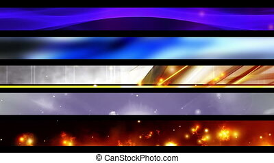 Abstract Lower Thirds Three R2287 - Five Abstract Looping...