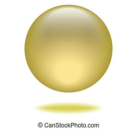 Yellow Orb Graphic vector eps10