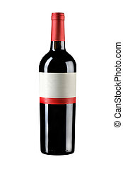 sealed bottle wine - object on white - isolated wine bottle
