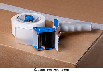 Packaging Tape Gun Dispenser Isolated Over White
