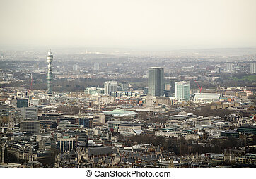 Aerial View over Bloomsbury, London - View from a tall...