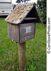Old timber mail box