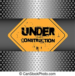 Under Construction - Under construction over chrome...