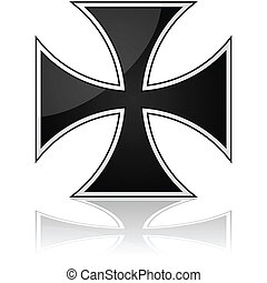 Iron cross - Glossy illustration showing an iron cross...