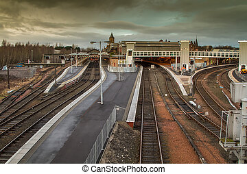 Stirling Train Station - Rail tracks at Stirling train...