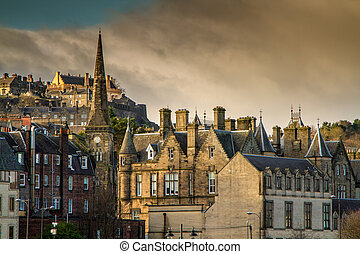 Stirling Castle - Stirling Old town with the Castle in the...