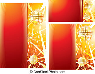 Set of Disco Music Print TemplatesVector for Your Text or...