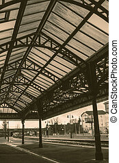 Train station steel roof