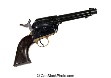 Old West Single Action Revolver - Well worn western style...