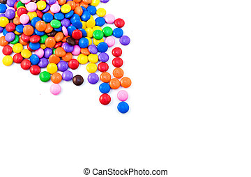 Multicolored candy isolated on a white background