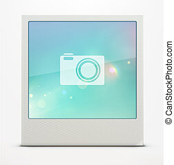 retro Polaroid photo frame