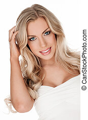 Beautiful blonde woman - Portrait of beautiful smiling woman...
